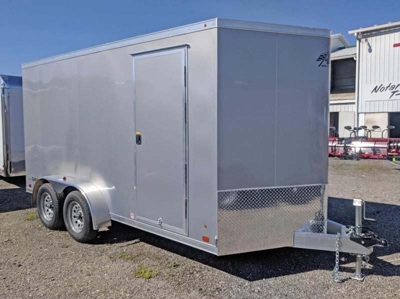 "NEW 2019 ATC 7X14 ""RAVEN"" V-Nose Aluminum Cargo Trailer w/ Ramp & Additional 6"" Height"