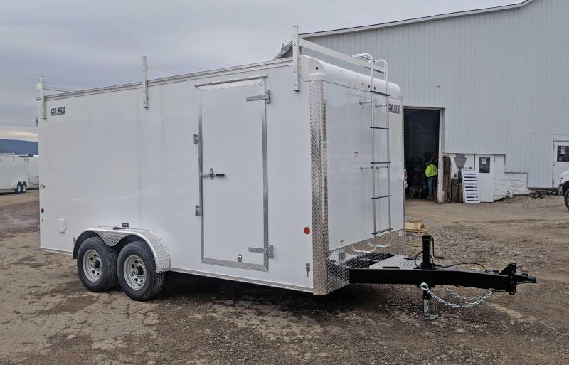 """NEW 2018 Car Mate 7X16 HD """"CONTRACTOR"""" Cargo Trailer w/ Barn Doors & 12"""" Additional Height"""