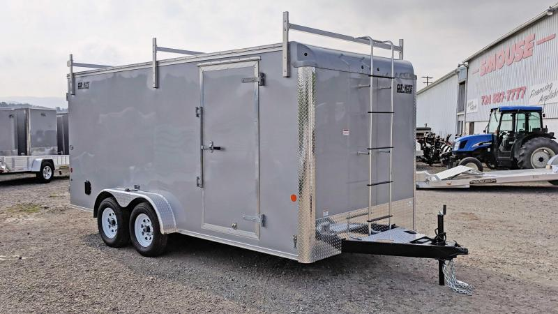 "NEW 2019 Car Mate 7X16 HD ""CONTRACTOR"" Cargo w/ Barn Doors"