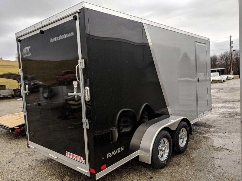 "NEW 2019 ATC 7x16 V-Nose Raven Cargo Trailer w/ Ramp Door (12"" Add'l Height)"