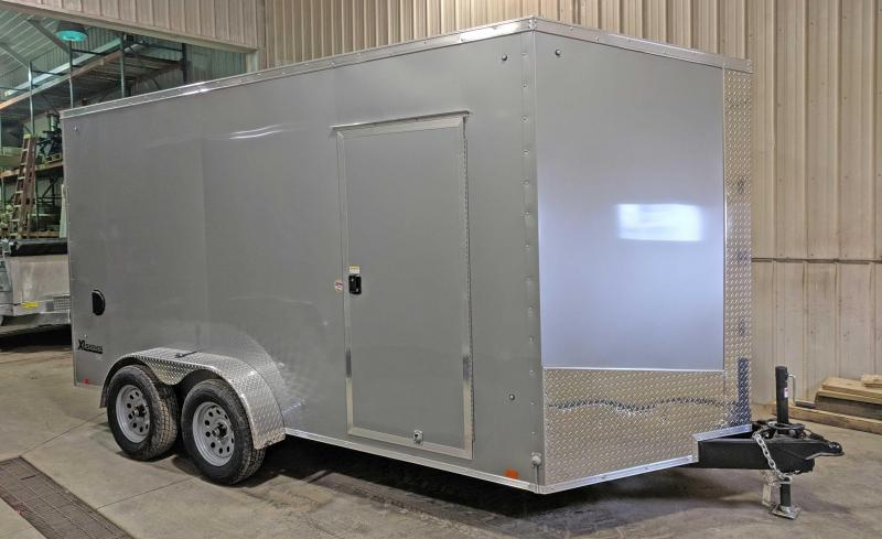 "NEW 2019 Cargo Express 7X16 XLW  Sloped V-Nose Cargo w/Ramp Door & 12"" Additional Height"