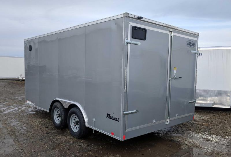 NEW 2018 Cargo Express 8.5X16 XLW Sloped V-Nose Trailer w/ Barn Doors