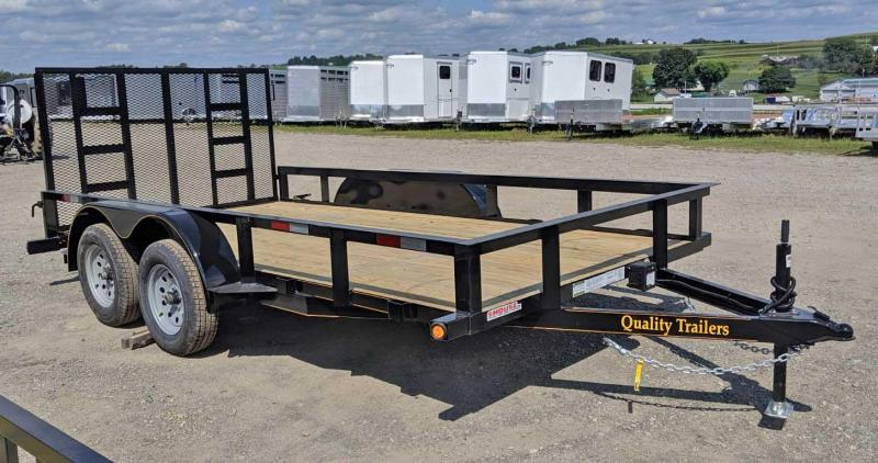 NEW 2020 Quality 7x14 Tandem General Duty Utility Trailer