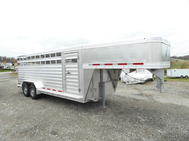 NEW 2016 Featherlite 20' Gooseneck ALUMINUM Stock Trailer