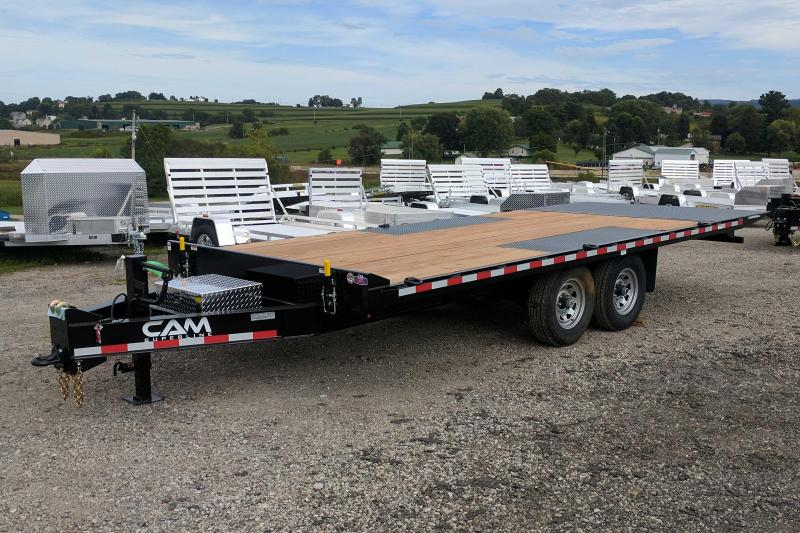 NEW 2018 Cam 20' Deckover Full Tilt Trailer w/ Power Up/Power Down (16100# GVW)