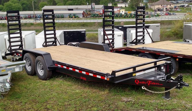 NEW 2019 Quality 20' HD PRO Equipment Hauler w/ 2' Dove Tail & Spring Assist Ramps