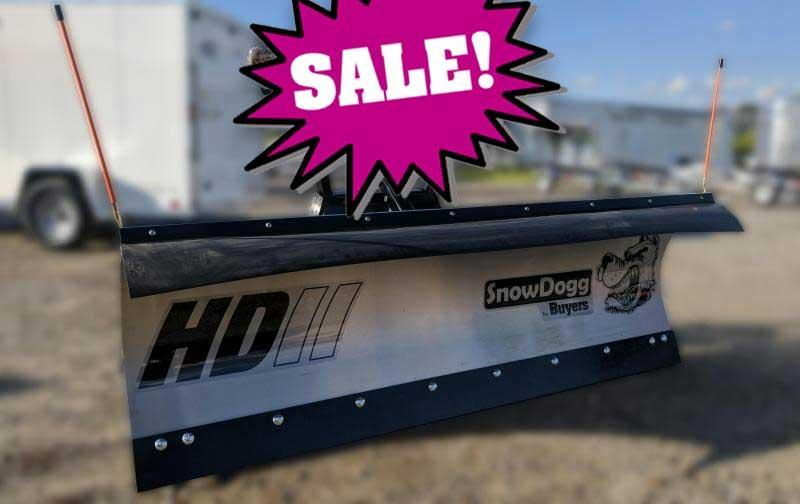 CALL FOR SALE PRICE!! - NEW SnowDogg 7.5' II HD Stainless Steel Snow Plow- 1 LEFT IN STOCK