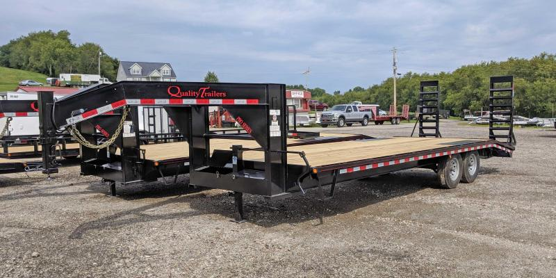 NEW 2020 Quality 24+4 HD Pro Deckover Gooseneck Trailer