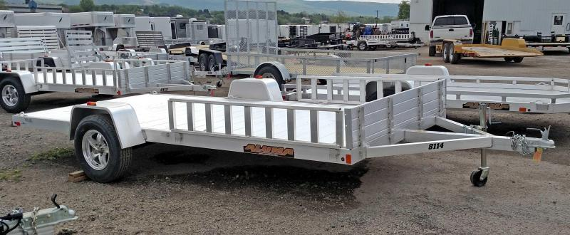 "NEW 2019 Aluma 6'9"" x 14' Utility Trailer w/ Side Ramps"