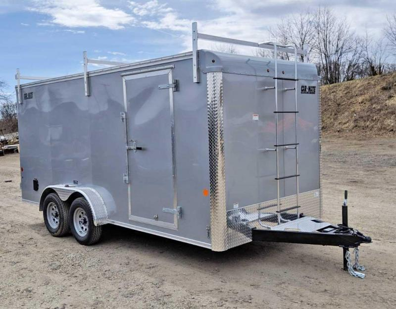 NEW 2019 Car Mate 7x16 HD Custom Contractor Trailer  w/ Barn Doors