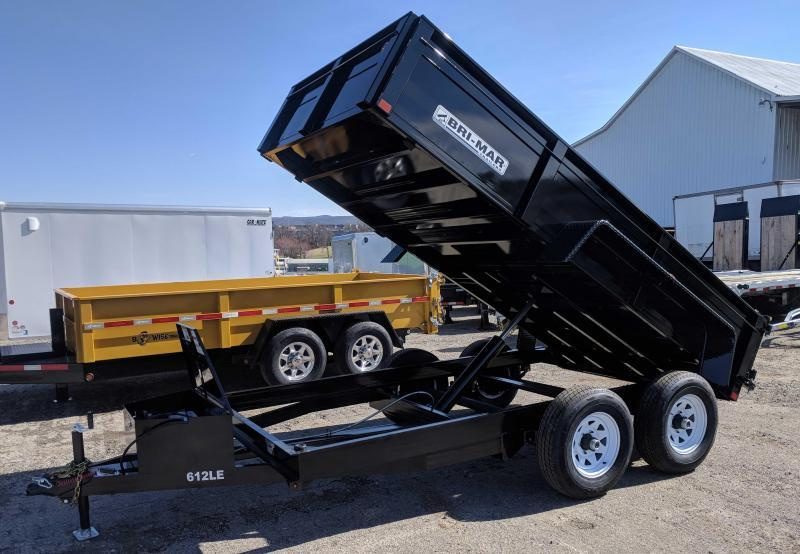 NEW 2018 Bri-Mar 6X12 Lo Pro Equipment Dump Trailer