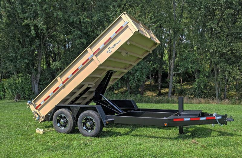 "NEW 2019 B-Wise 6'10"" x 14' HD Lo Pro Equipment Dump"