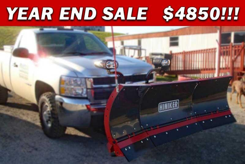 NEW 2018 Hiniker 8' Poly Torsion Trip Edge Scoop Snow Plow