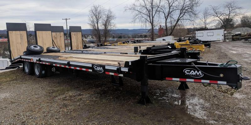 NEW 2018 CAM 24+5 HD Triaxle Deckover Tagalong w/ Air Brakes & Air Ramps