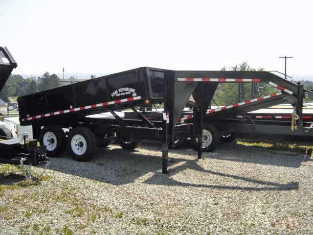 NEW 2014 CAM 7x12 Gooseneck Deckover Dump Trailer