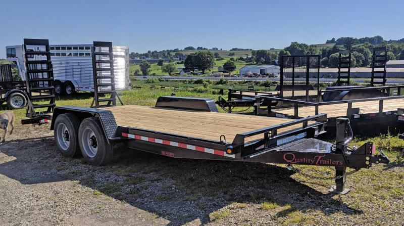 NEW 2019 Quality 20' HD PRO Equipment Hauler w/ 2' Dove & Spring Assist Ramps