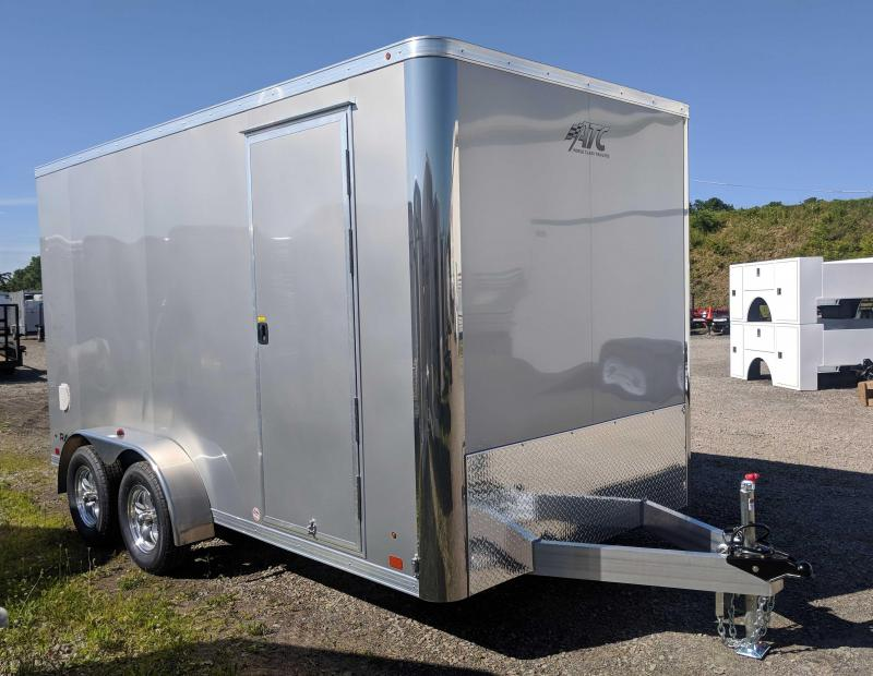 "NEW 2019 ATC 7x14 Raven Enclosed Cargo Trailer w/ Ramp Door & 12"" Additional Height"