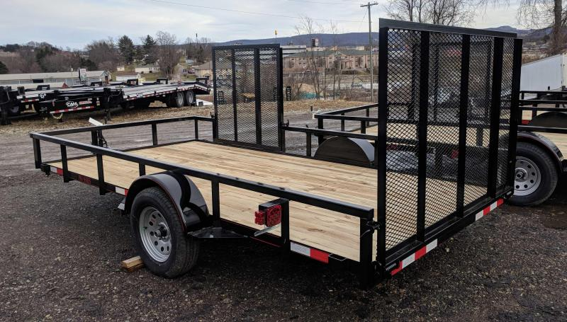 NEW 2018 Quality 7X14 PRO Utility Trailer w/ Side Gate & Spring Assist Rear Gate