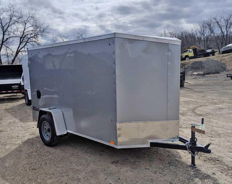 NEW 2020 Cargo Express 5 x 10 EX DLX V-Nose Cargo Trailer w/ Ramp Door
