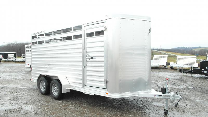 NEW 2016 Featherlite 16' Alumunum Livestock Trailer-7' High
