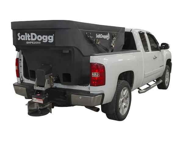 (1 LEFT @ PRE-SEASON PRICES!!)  NEWLY DESIGNED SALTDOGG 2.0 Cu. Yd. Poly Hopper Salt Spreader w/ Standard Chute