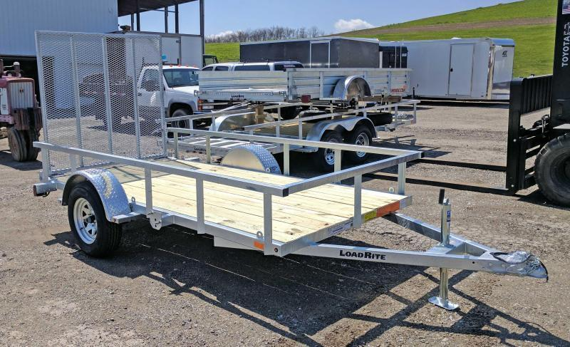 NEW 2018 Load Rite 5.5X11 Galvanized Utility Trailer w/Spring Assist Gate