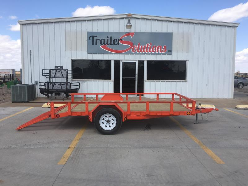 "2018 PJ 12'x 83"" Single Axle Utility Trailer"