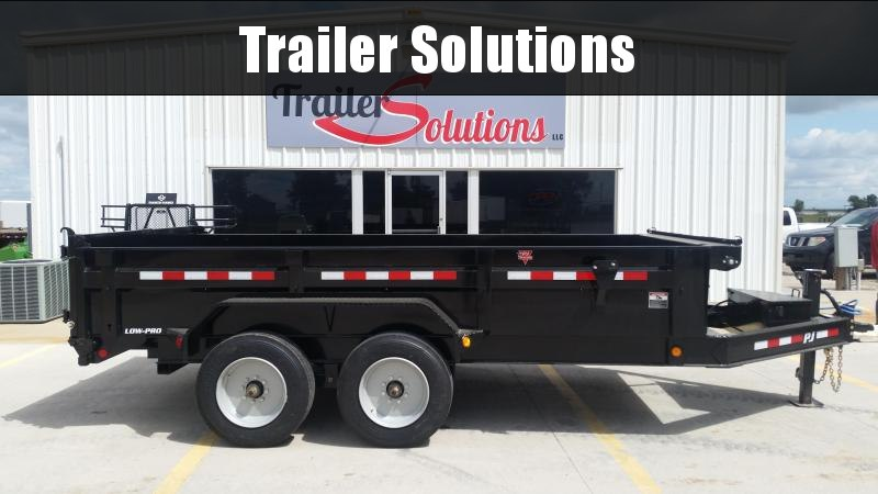 "2019 PJ 14' x 83"" Low Pro Dump Trailer (8000 Axles)"