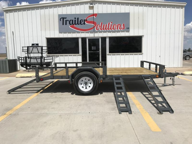 "2019 PJ 12' x 77"" Single Axle Utility Trailer"
