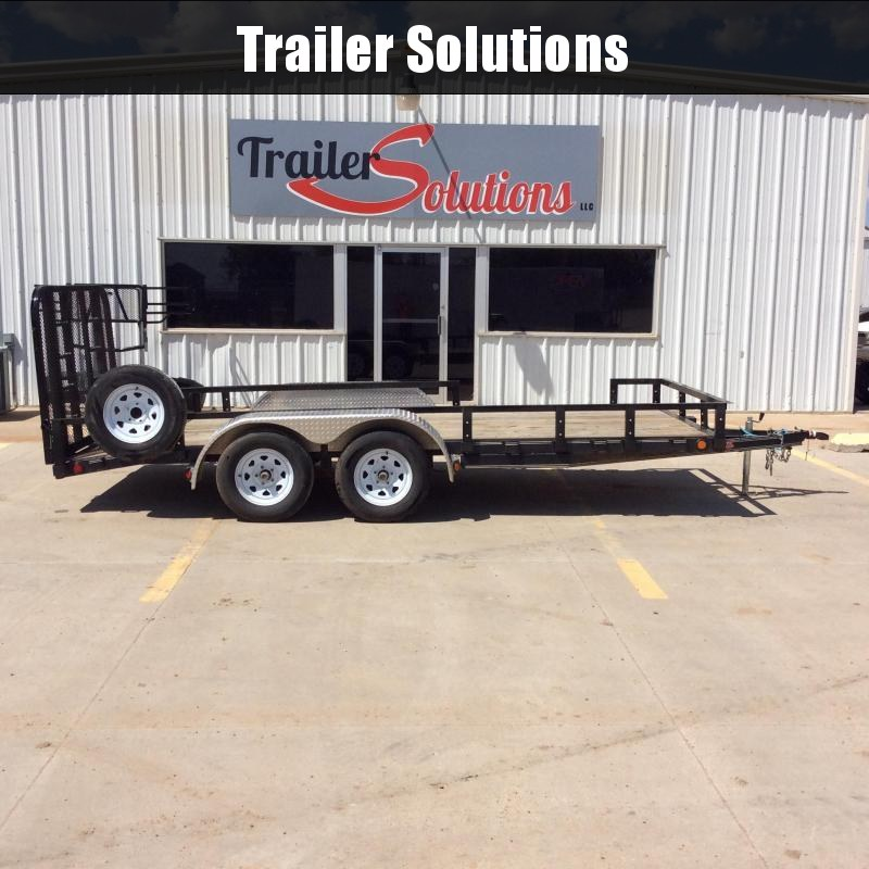 "2019 PJ 16' x 77"" Tandem Axle Channel Utility Trailer"
