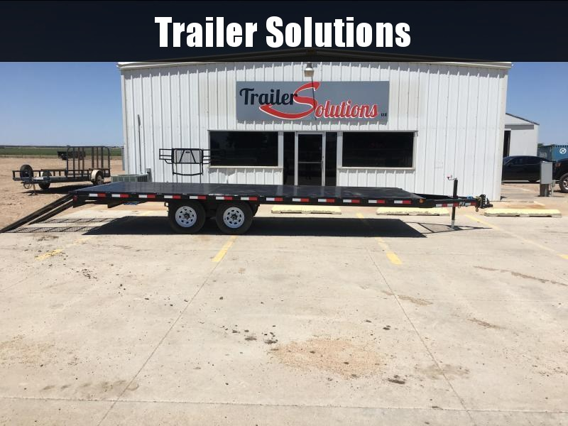 2020 PJ 22' x 96'  Medium Duty Deckover 6 in. Channel Flatbed Trailer