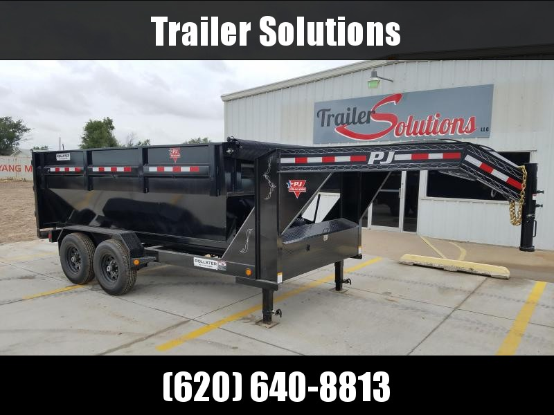 "2019 PJ 14' x 83"" Rollster Roll Off Dump Trailer With 2 Bins"