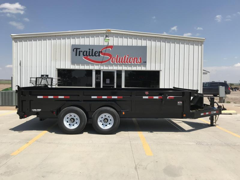 "2019 PJ 16' x 83"" Low Pro XL Dump Trailer"