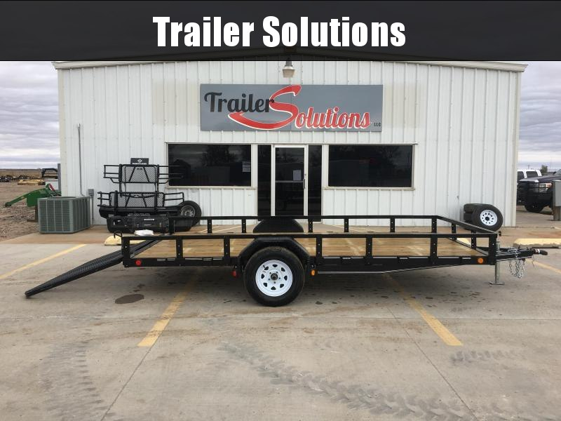 "2019 PJ 14' 83"" Single Axle Channel Utility Trailer"