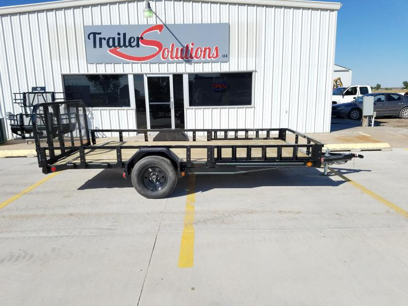 "2018 PJ 14' x 83"" Single Axle Utility Trailer White Wheels"