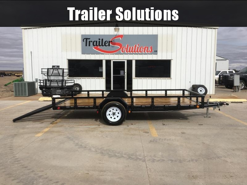 "2019 PJ 14' x 77"" Single Axle Channel Utility Trailer"
