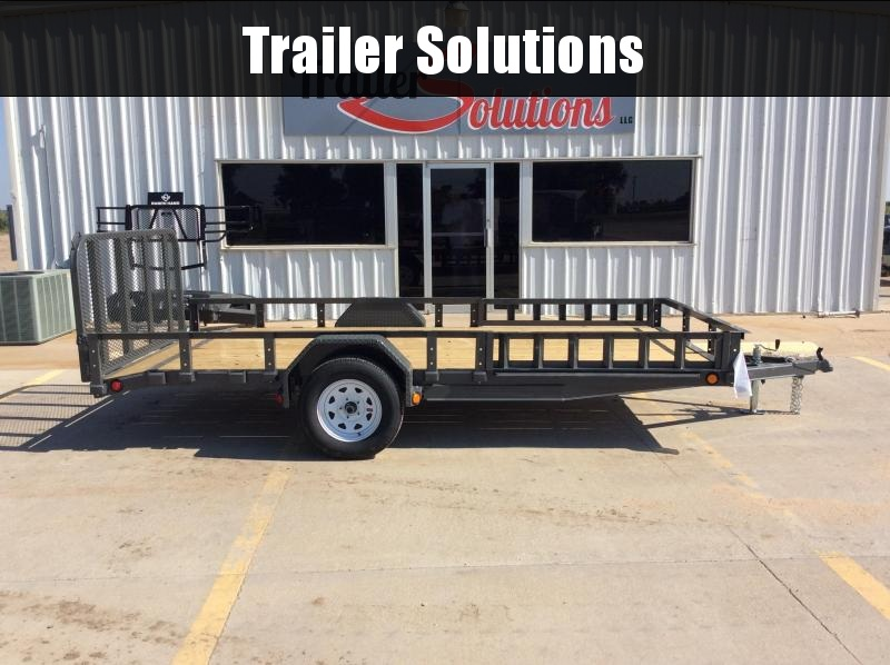 "2020 PJ14' x 77"" SIngle Axle Channel Utility Trailer"