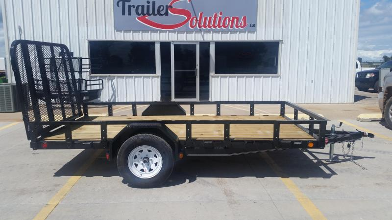 "2019 PJ 12' x 72"" Single Axle Utility Trailer"
