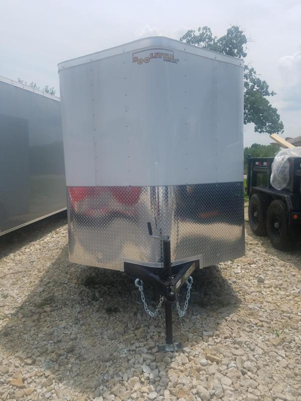 2020 Doolittle Trailer Mfg 2020 6X10 DOOLITTLE 6' INT RAMP DOOR WHITE Enclosed Cargo Trailer