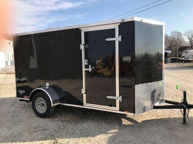 2018 Continental Cargo 6X12 V SERIES PEWTER Enclosed Cargo Trailer
