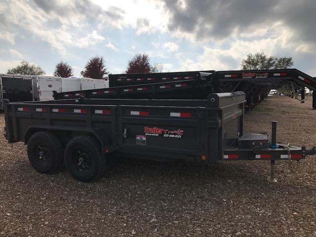 2018 Load Trail 83X14 LOW PRO SIDE DOOR SPARE MOUNT GREY Dump Trailer