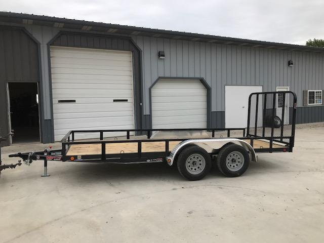 "2018 Load Trail 77X16 UT Utility Trailer 7K GVW TANDEM AXLE (4"" CHANNEL FRAME) 4"