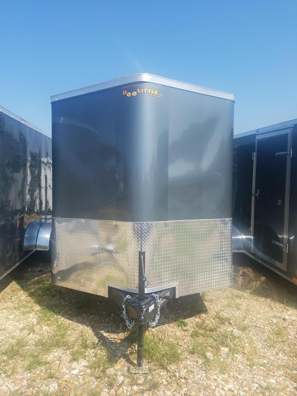 2019 Doolittle Trailer Mfg 7X14 DOOLITTLE CARGO LED LIGHTS RAMP GRAY Enclosed Cargo Trailer