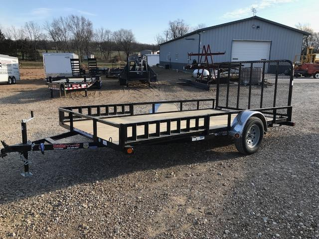 2018 Load Trail 83X14 SE SIDE RAIL RAMPS Utility Trailer