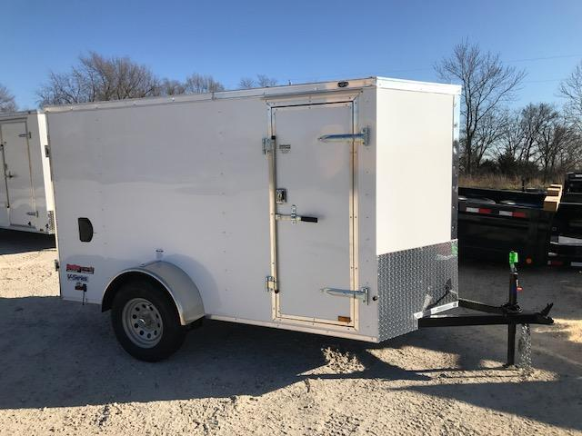 2018 Continental Cargo 5X10 V SERIES DOUBLE REAR DOOR Enclosed Cargo Trailer