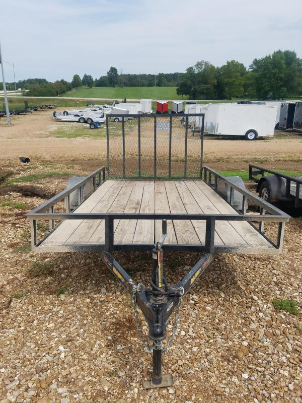2010 Doolittle Trailer Mfg 77X12 DOOLITTLE RALLY SPORT 4' REAR GATE BLACK Utility Trailer