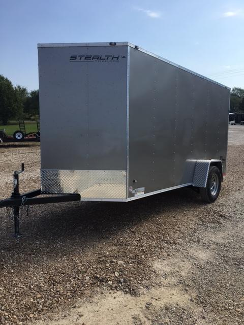 2017 Stealth Trailers 57306 Enclosed Cargo Trailer 6X12 METALLIC PEWTER REAR RAMP DOOR