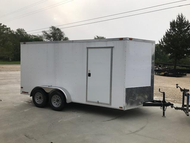 2018 TRAILER TRENDZ 7X16 TANDEM AXLE 7K Enclosed Cargo Trailer