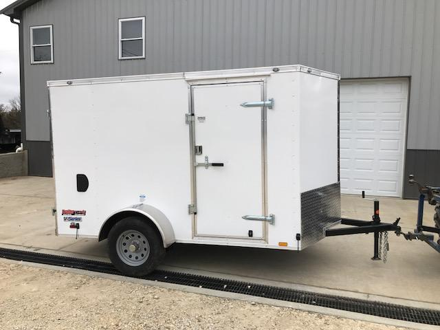 2018 Continental Cargo 6X10 SINGLE AXLE DOUBLE REAR DOOR Enclosed Cargo Trailer