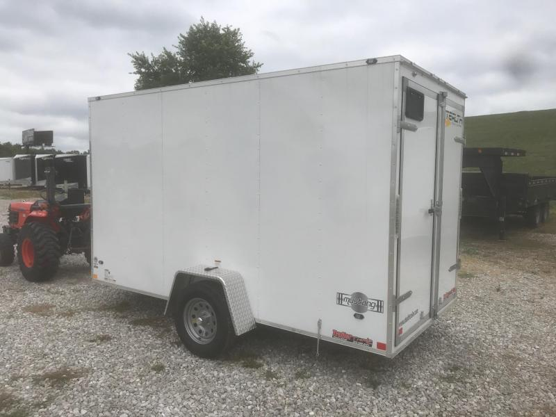 2019 Stealth Trailers 6X12 MUSTANG WHITE DOUBLE REAR DOOR Enclosed Cargo Trailer